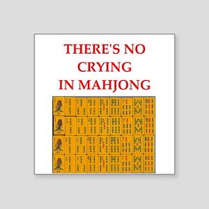 """mahjong gfts Square Sticker 3"""" x 3"""""""