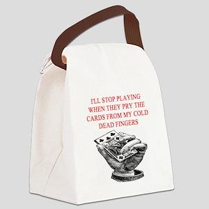 bridge poker joke Canvas Lunch Bag