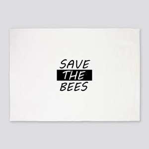 save the bees honey love 5'x7'Area Rug
