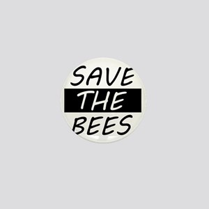 save the bees honey love Mini Button