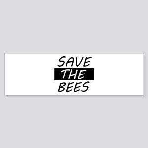 save the bees honey love Bumper Sticker