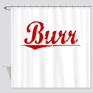 Burr, Vintage Red Shower Curtain