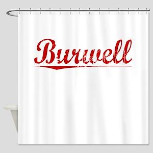 Burwell, Vintage Red Shower Curtain