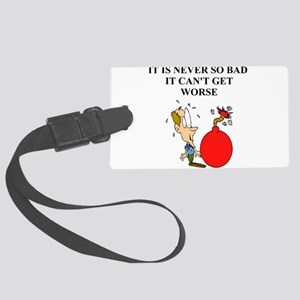 funny jewish joke Large Luggage Tag
