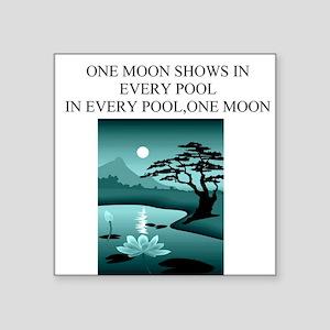 zen buddhism koan satori meditation Square Sticker