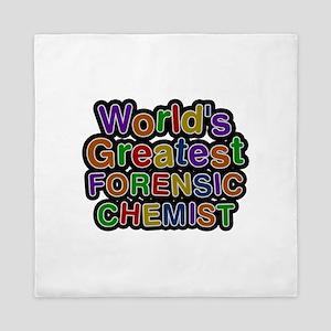 World's Greatest FORENSIC CHEMIST Queen Duvet