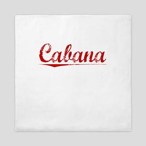 Cabana, Vintage Red Queen Duvet