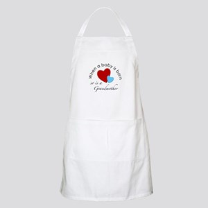 When a baby is born, so is a Grandmother BBQ Apron