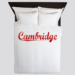 Cambridge, Vintage Red Queen Duvet