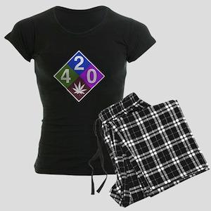 420 caution blue Women's Dark Pajamas