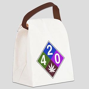420 caution blue Canvas Lunch Bag