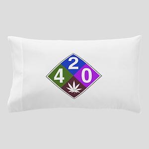 420 caution blue Pillow Case