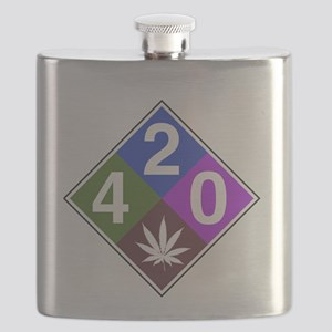 420 caution blue Flask