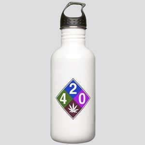 420 caution blue Stainless Water Bottle 1.0L