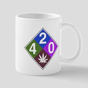420 caution blue Mug