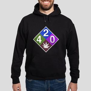 420 caution blue Hoodie (dark)