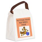 nutty squirrel poop Canvas Lunch Bag