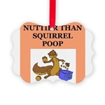 nutty squirrel poop Picture Ornament