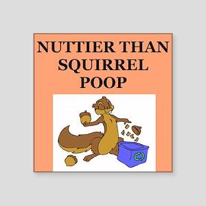 """nutty squirrel poop Square Sticker 3"""" x 3"""""""