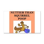 nutty squirrel poop Rectangle Car Magnet