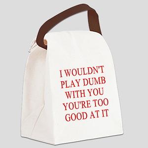 DUMB joke Canvas Lunch Bag