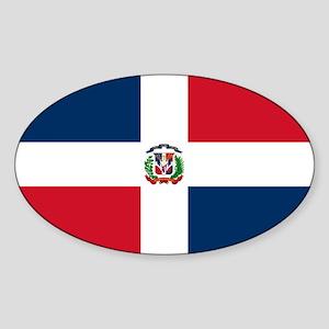 Dominican Republic Flag Sticker (Oval)