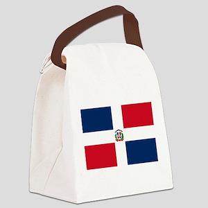 Dominican Republic Flag Canvas Lunch Bag