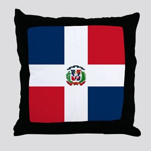 Dominican Republic Flag Throw Pillow