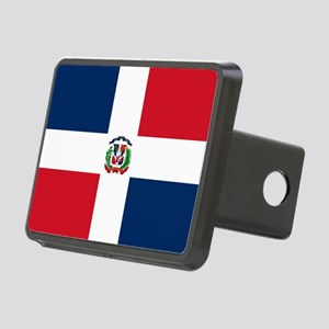 Dominican Republic Flag Rectangular Hitch Cover