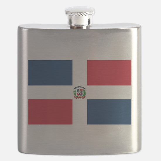 Dominican Republic Flag Flask