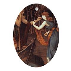 Psyche & Charon Oval Ornament