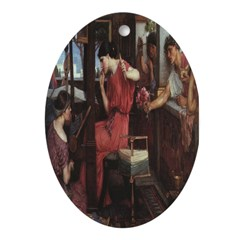 Penelope and Her Suitors Oval Ornament