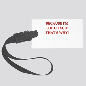 funny jokes sports co Large Luggage Tag
