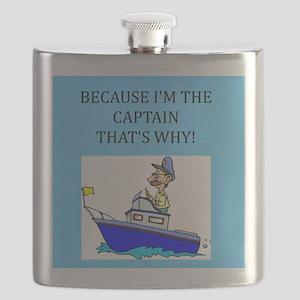 funny jokes sports captain boat boating Flask