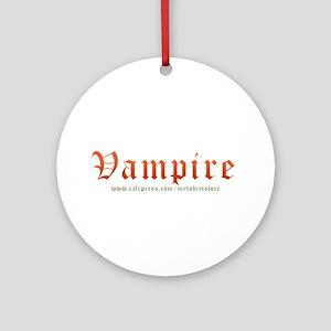 Vampire Ornament (Round)