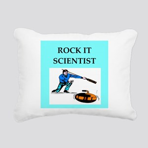 i love curling Rectangular Canvas Pillow