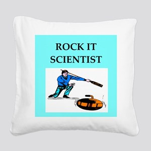 i love curling Square Canvas Pillow
