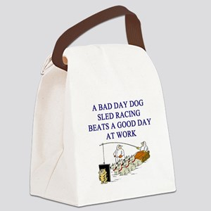 dog sled racing gifts apparel Canvas Lunch Bag