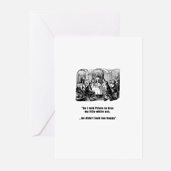 Jesus in trouble Greeting Cards (Pk of 10)