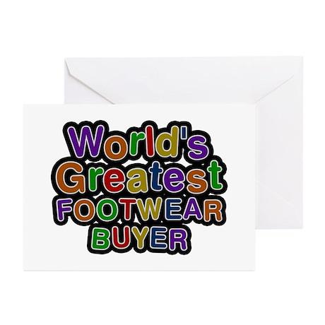 World's Greatest FOOTWEAR BUYER Greeting Card 20 P