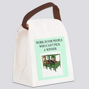funny jokes sports horse racing Canvas Lunch Bag