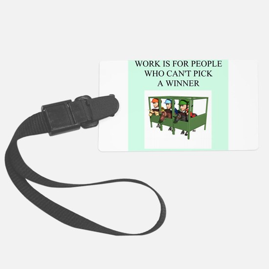 funny jokes sports horse racing Luggage Tag