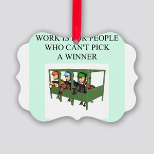funny jokes sports horse racing Picture Ornament