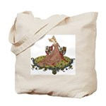 Medieval Lady w/Coats of Arms Tote Bag