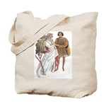 Medieval Couple Tote Bag