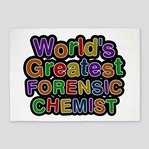 World's Greatest FORENSIC CHEMIST 5'x7' Area Rug