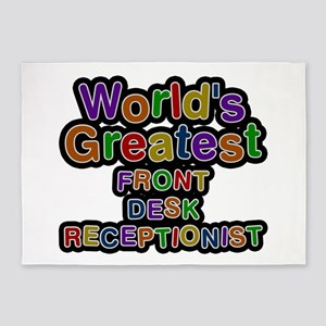 World's Greatest FRONT DESK RECEPTIONIST 5'x7' Are