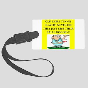 table tennis Large Luggage Tag