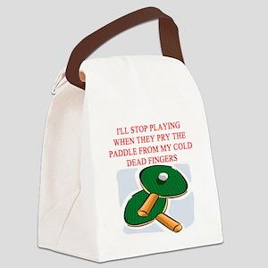 table tennis joke Canvas Lunch Bag