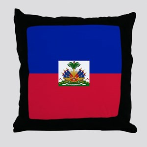 Flag of Haiti Throw Pillow